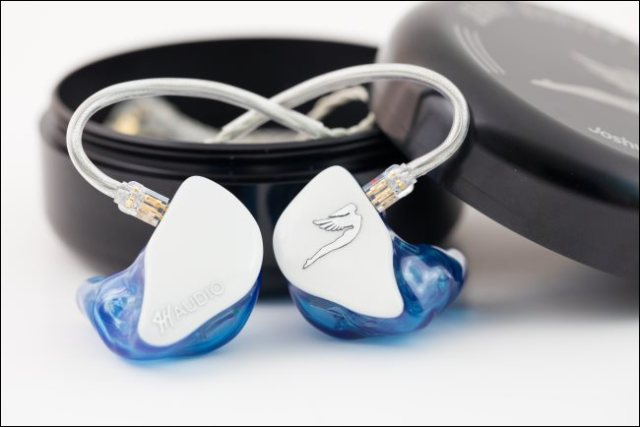 Personalized in-ear headphones for a musician.