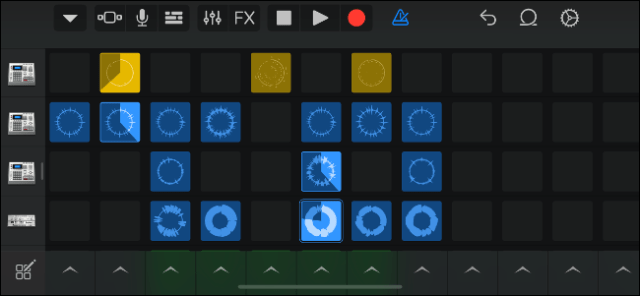 Trigger samples on a grid with Live GarageBand loops