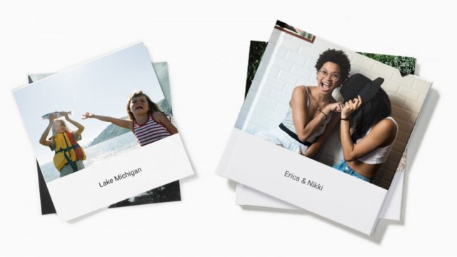 Two Google Photos photo books, with a camping trip.