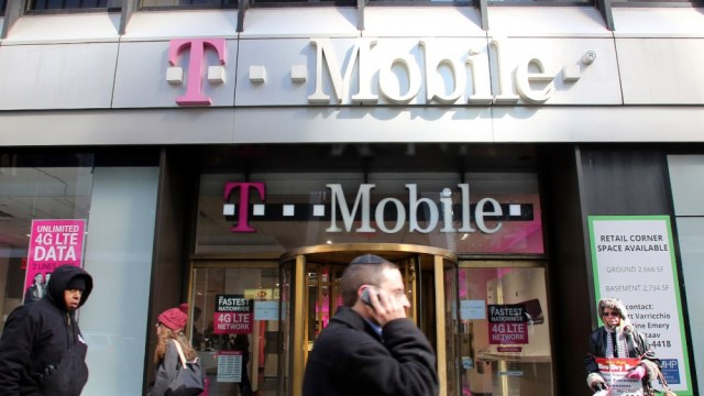 Facade of T-Mobile retail store