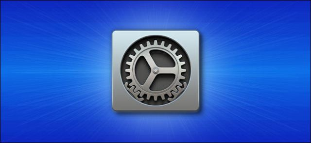 Apple's Mac System Preferences icon on a blue background,