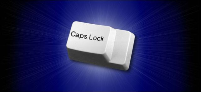 One key caps lock.