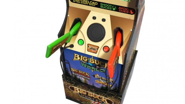 A close up of the two weapons included with 'Big Buck Hunter'