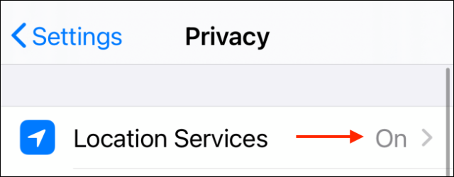 Tap Location Services