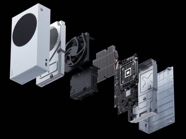 Exploded view of the Xbox Series S