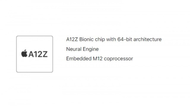 IPad Pro A12Z Processor Specifications