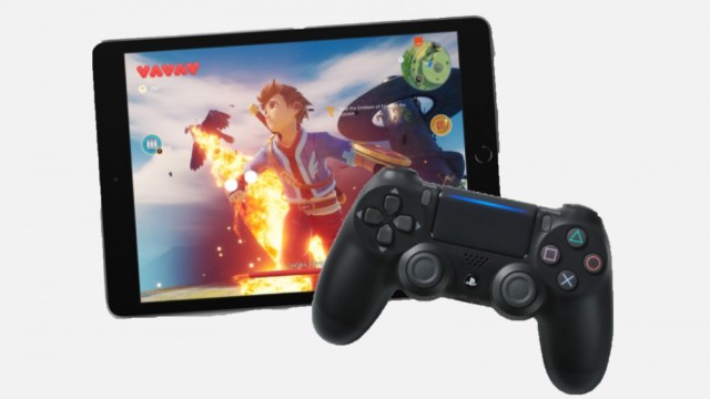 iPad with PS4 controller