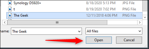 Select and insert an image