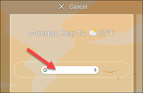 Drop the widget anywhere on the home screen.