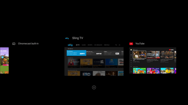 recent android tv apps