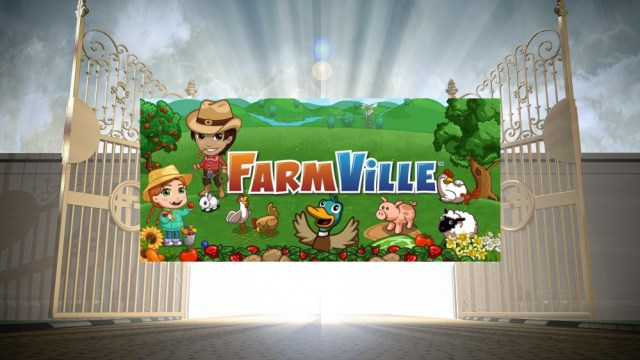 FarmVille with pearly doors.