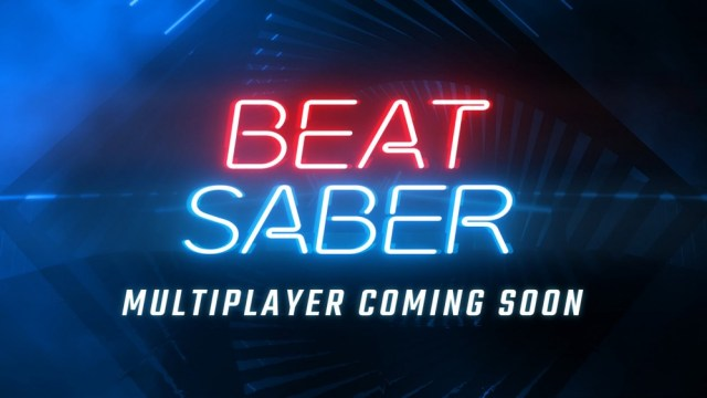 The 'Beat Saber' logo on an upcoming multiplayer promise.