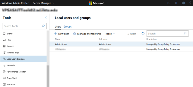 Manage local users and groups that have access to them.