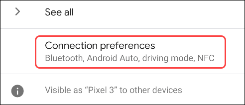 tap connection preferences