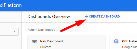 Create a new dashboard.