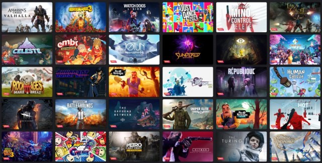 Selection of Stadia games