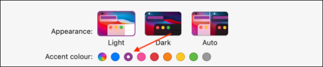 Choose Accent Color in macOS