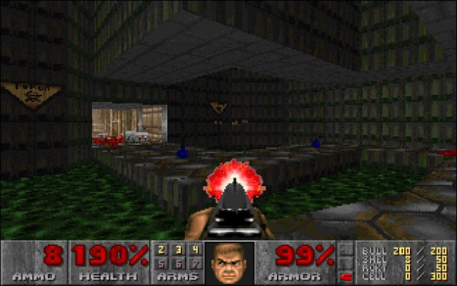 A screenshot of Doom for MS-DOS.