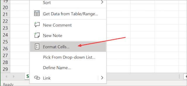 Cells in Excel format