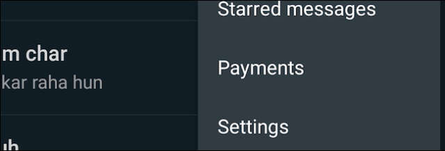 Visit the settings of the WhatsApp application
