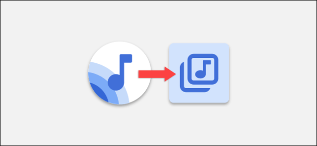 play logo with playlist icon