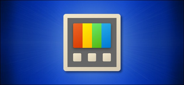 Windows PowerToys icon on blue background