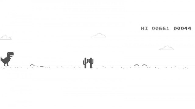 Screenshot of Google Dinosaur Game