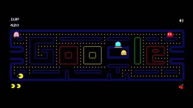 Google Pac-Man search bar maze