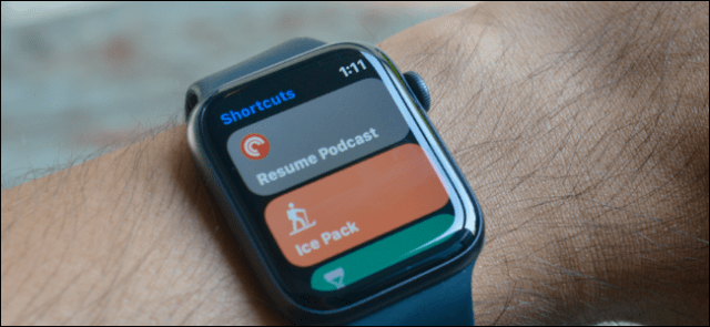 Shortcut automations performed on an Apple Watch