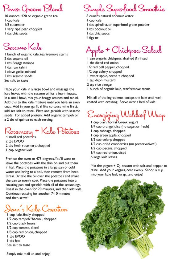 Kale.  It's What's For Dinner. (7 free recipes inside!)