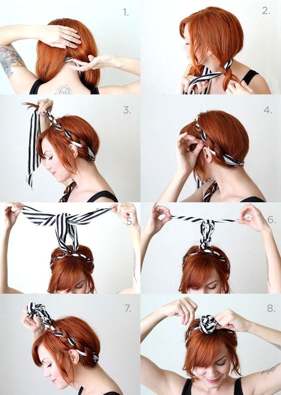 How to easy scarf in your hair