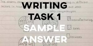 IELTS Writing Task 1 Sample Answer: Working Pie Charts