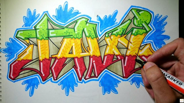 How to Draw Graffiti Step By Step - For Kids & Beginners