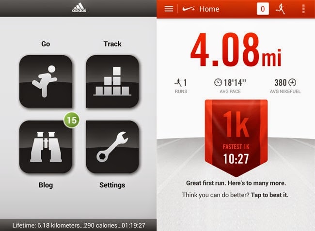 Adidas miCoach VS Nike+ Running