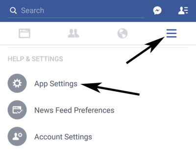 Apps Settings for Facebook