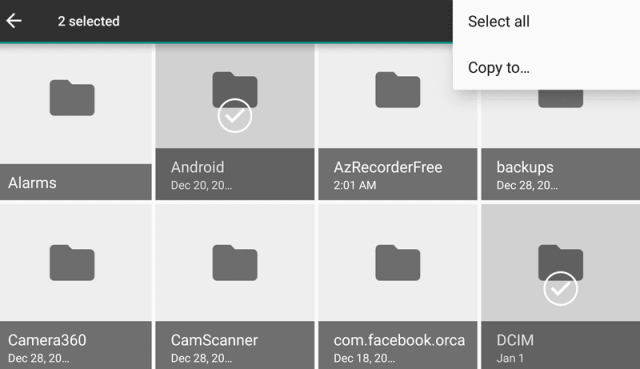 Android Marshmallow File Manager