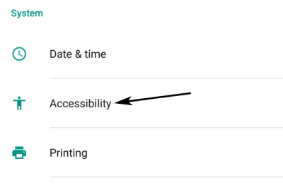 Android Accessiblity Option