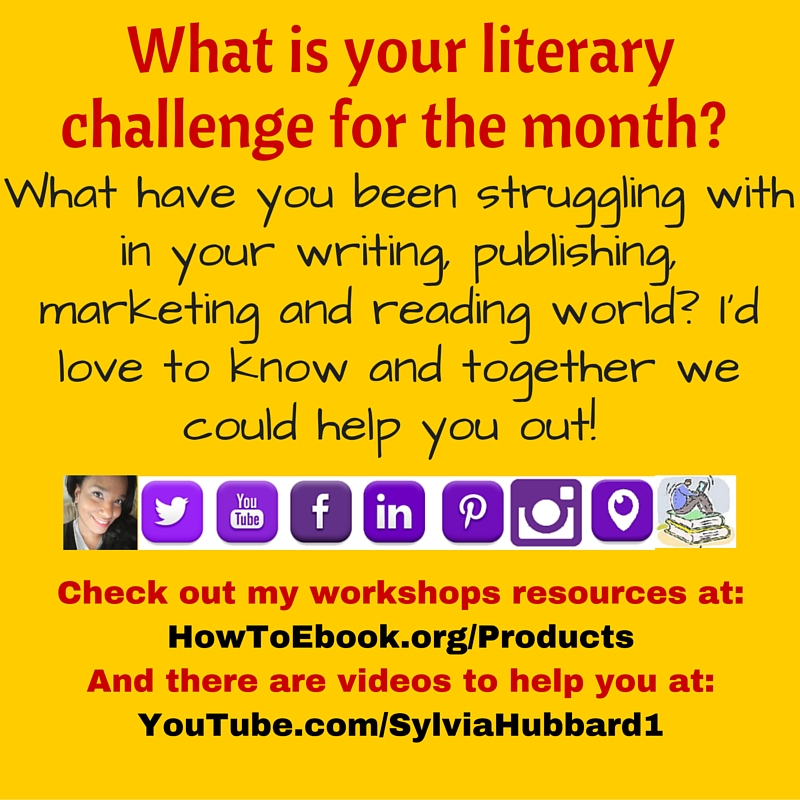 What is your literary challenge for the month? #marketing #writing #reading #publishing #October