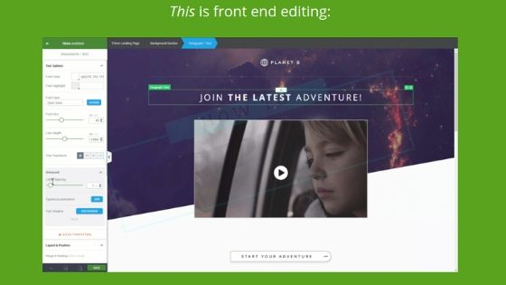 Thrive Architect Editor Screenshot