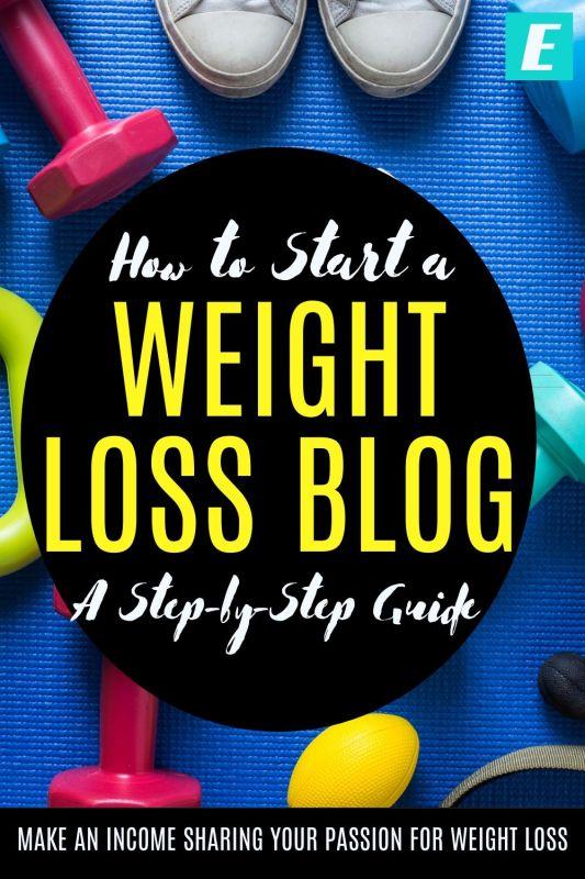 How to Start a Weight Loss Blog - Pinterest Pin