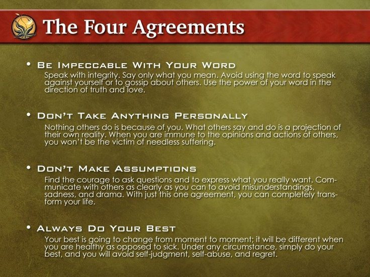 The Four Agreements By Don Miguel Ruiz How To Exit The Matrix