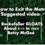 Rockefeller GLOATS About 9/11 in 1967!