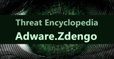 Adware.Zdengo is adware that appears on the screen when antivirus detect suspicious activity.