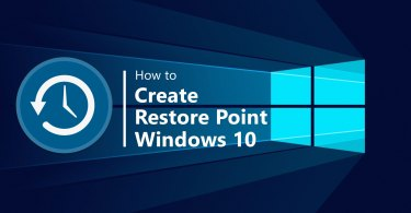 How to simply fix Windows 10 issues though System Restore?