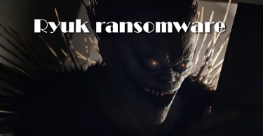Ryuk attacked the Department of Defense