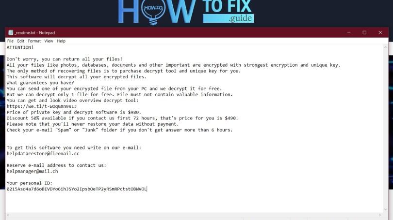 Npsk virus message