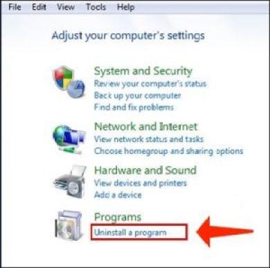 Deinstallieren Sie ein Programm unter Windows 7
