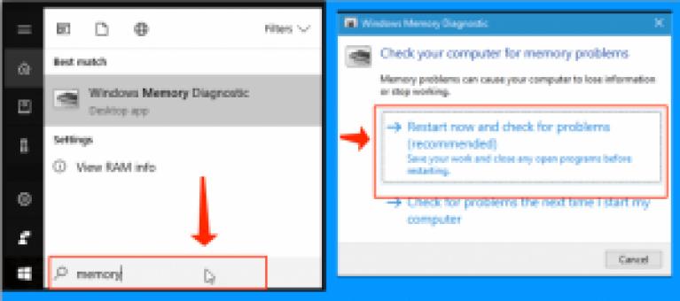Windowsメモリ診断ユーティリティを参照してください