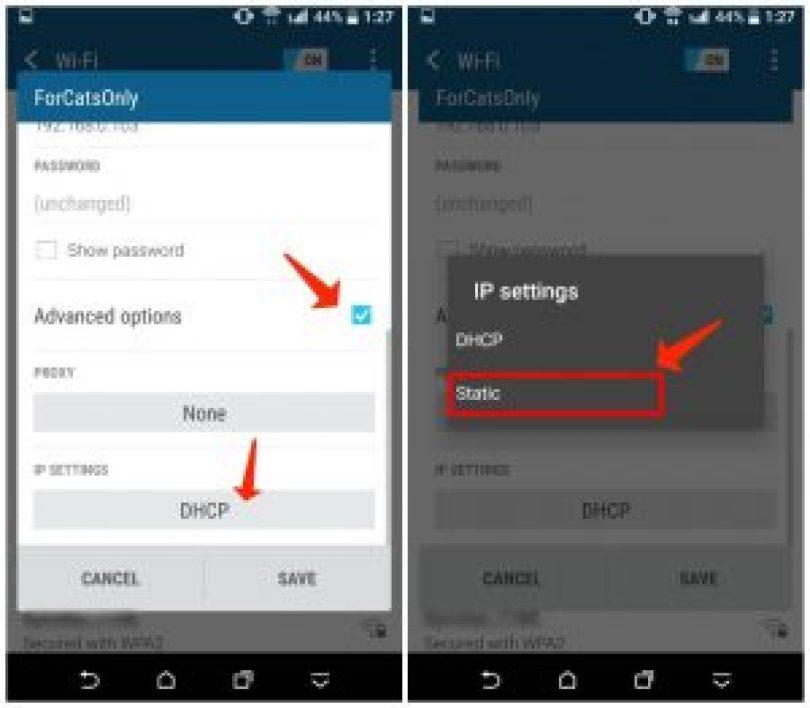 Erweiterte Android-Optionen