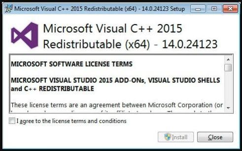 Microsoft Visual C++-2015 Redistributable